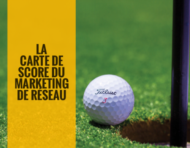 la carte de score dumarketing de reseau