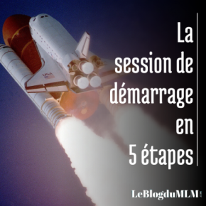 session de démarrage en 5 étapes