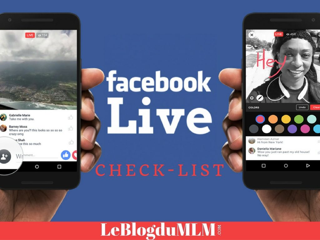 Facebook Live dans le Marketing de Réseau
